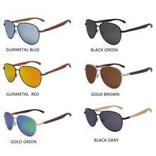 CLC GM Pilot  Driving Classic Wood Sunglasses Luxury Shades Metal Frame Wooden Sunglasses Men Women