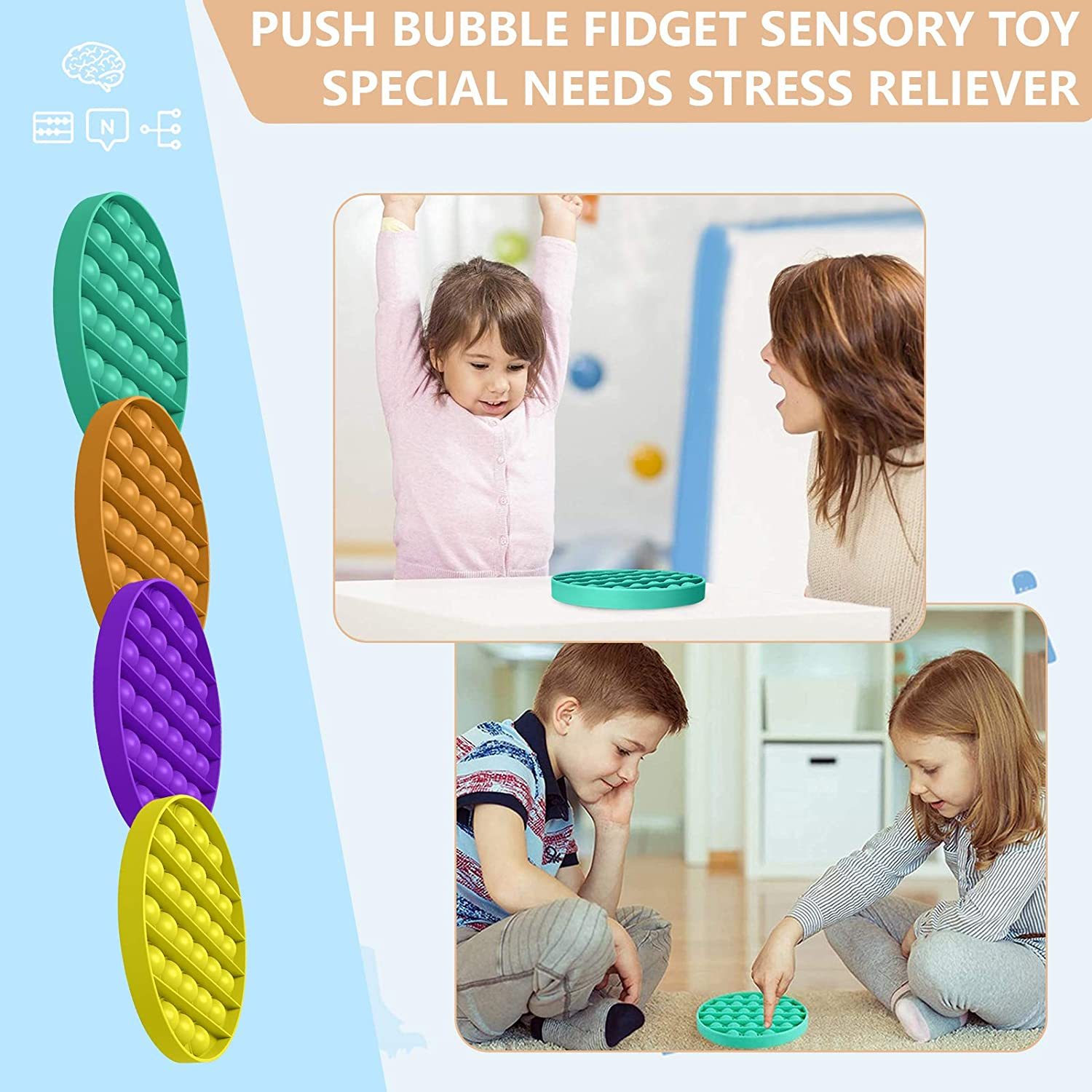 Sensory Fidget Toys 24 Pcs Stress Relief and Anti-Anxiety Toys for Adults Kids, Sensory Therapy Toys for Autism Stress Anxiety enlarge
