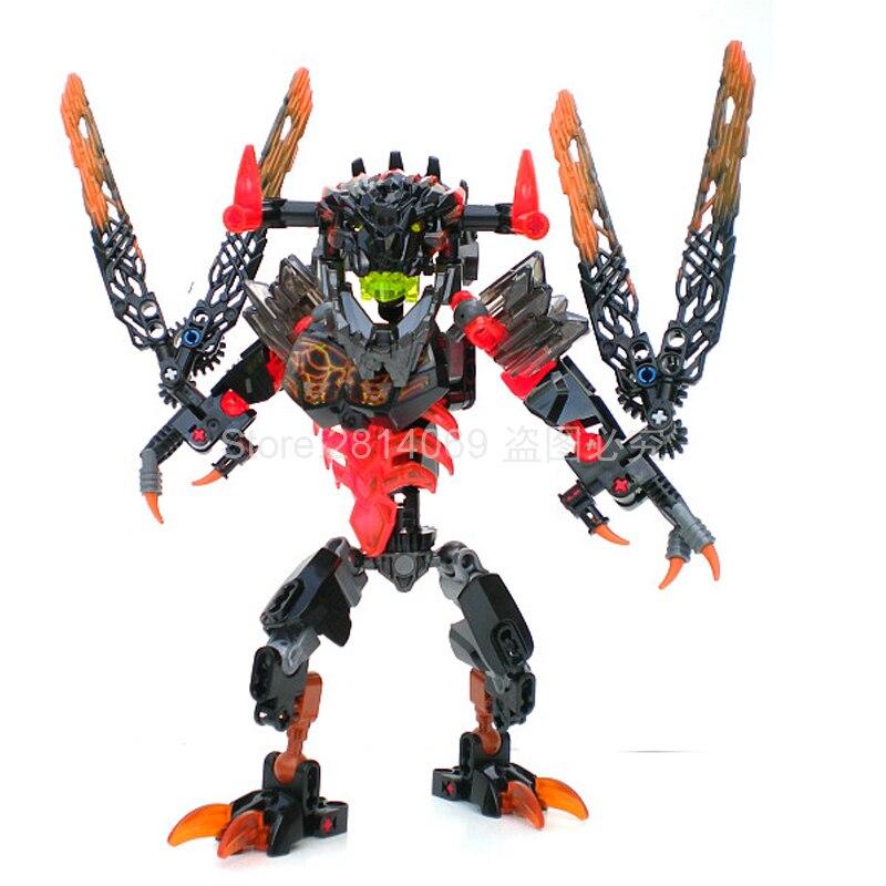 KSZ 613-2 Guerrero bioquímico Bionicle Lava bloques de construcción de ladrillos juguetes compatibles con Bionicle 71313