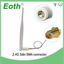 2,4 Ghz антенна Wifi 5dbi SMA разъем Белый 2,4 ghz антенны всенаправленный маршрутизатор 2,4g антенна + RP-SMA кабель