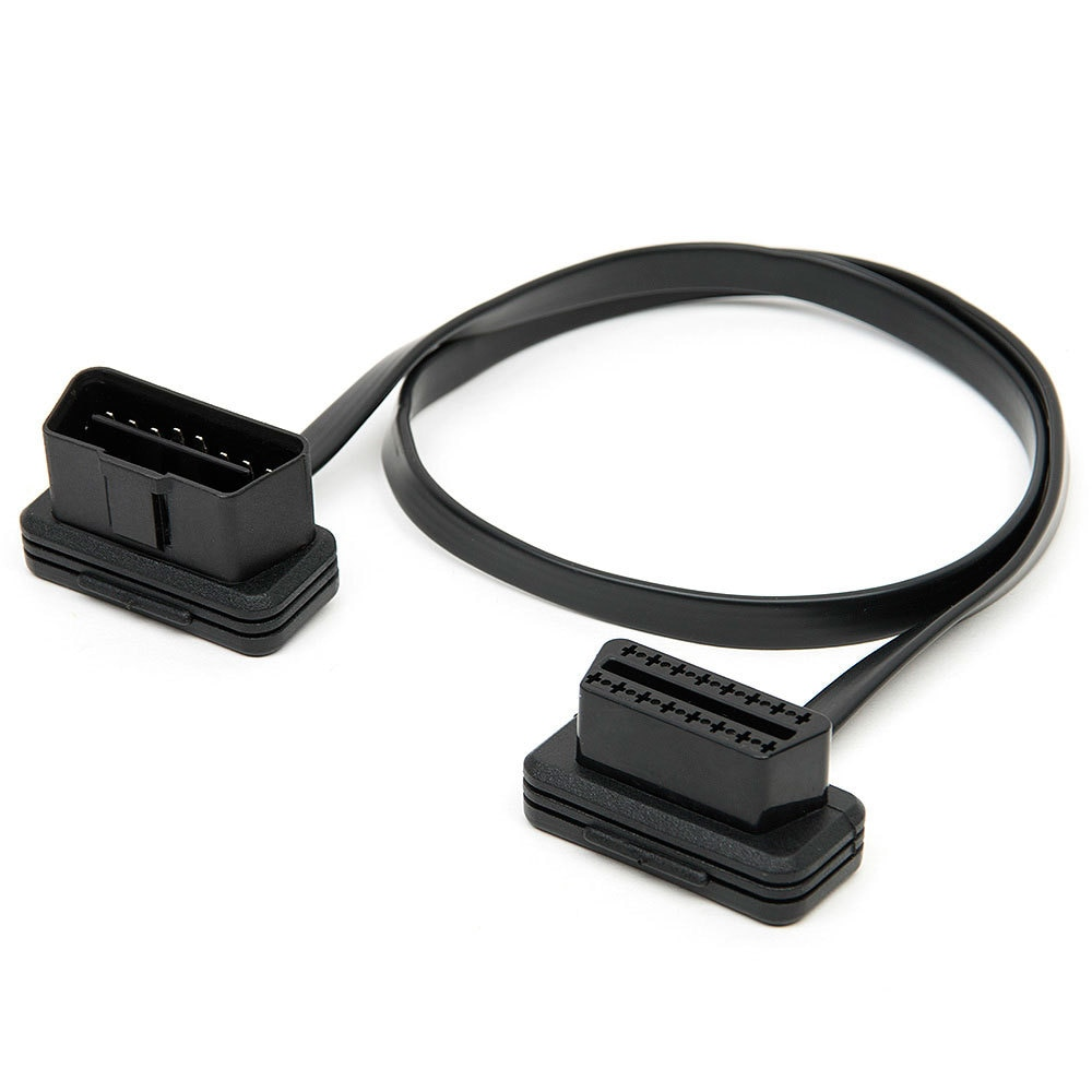 60/100CM 16Pin OBDII OBD 2 OBD2 Cable Connector Diagnostic-Tool ELM327 Adapter Male to Female Extension Connector Cable finetrip wholesale price flat car diagnostic connector elm327 l type adapter 16pin obd obd ii obd2 extension cable with switch