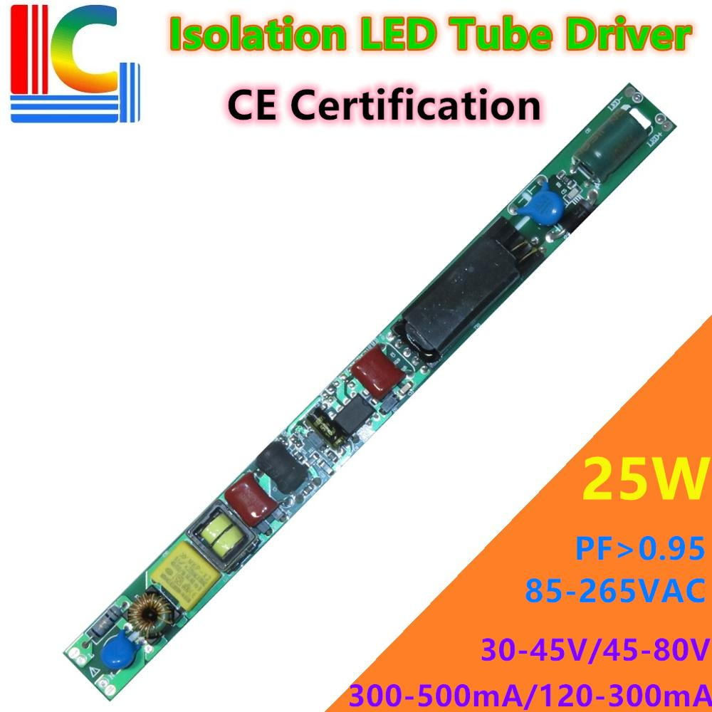 Certificação CE 9W 12W 15W 18W 25W Motorista LEVOU Tubo 110V 220V Entrada T8 T10 30-80VDC 120mA 220mA 240mA 280mA 350mA 380A 500mA DIY