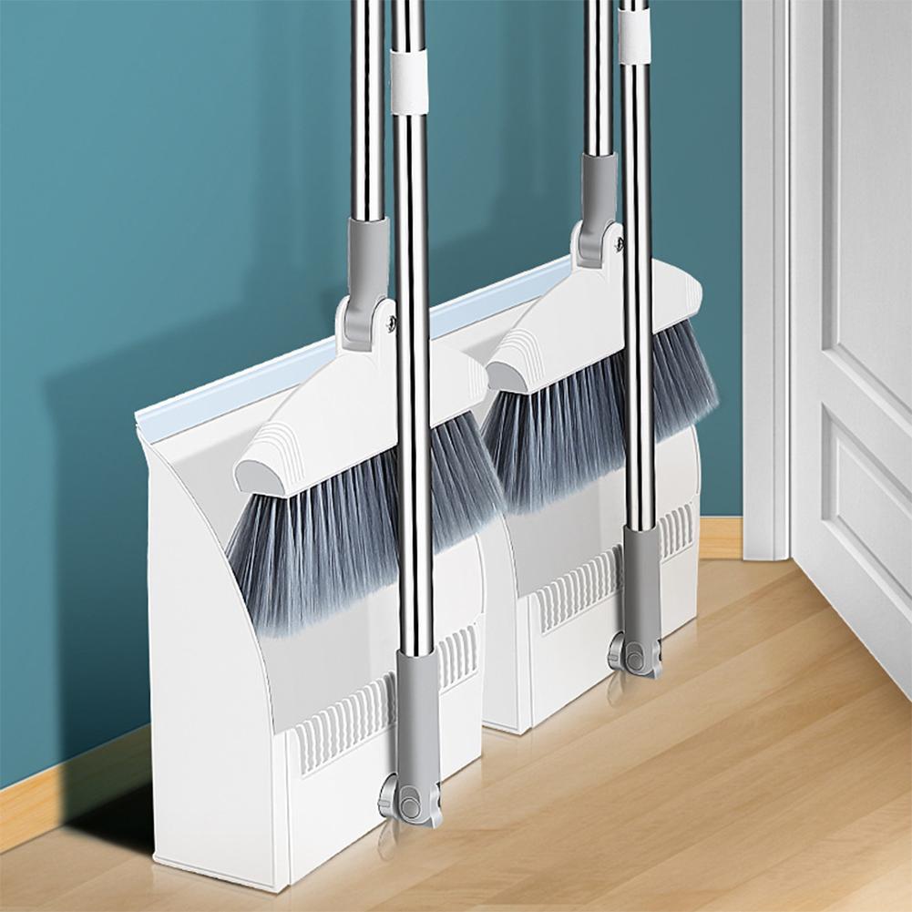Dobrável e Ereta e Conjunto de pá Combinação com Vassoura de Limpeza Conjunto de pá para Casa Vassoura Extensível