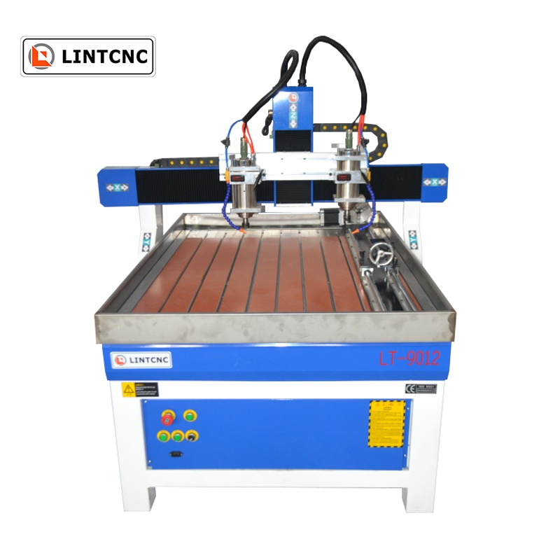 Jinan 2 cabeza 1.5kw husillo 6090, 6015, 1212, 1224 cnc máquina de grabado Con Enrutador precio