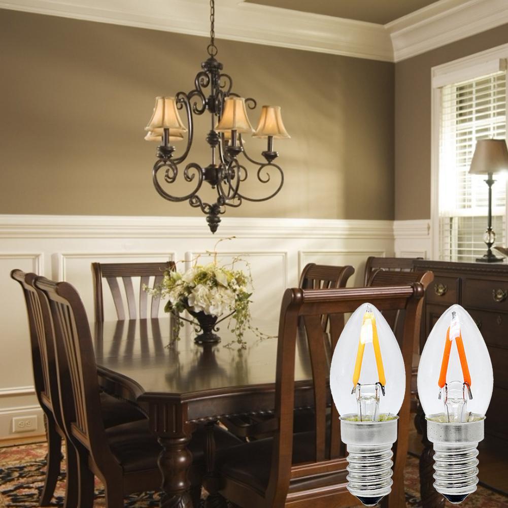 E12 Led Refrigerator Bulb Light Candle Light Bulb C7 Night Light Chandeliers Ceiling Lamp Bulb For Restaurants Cafes