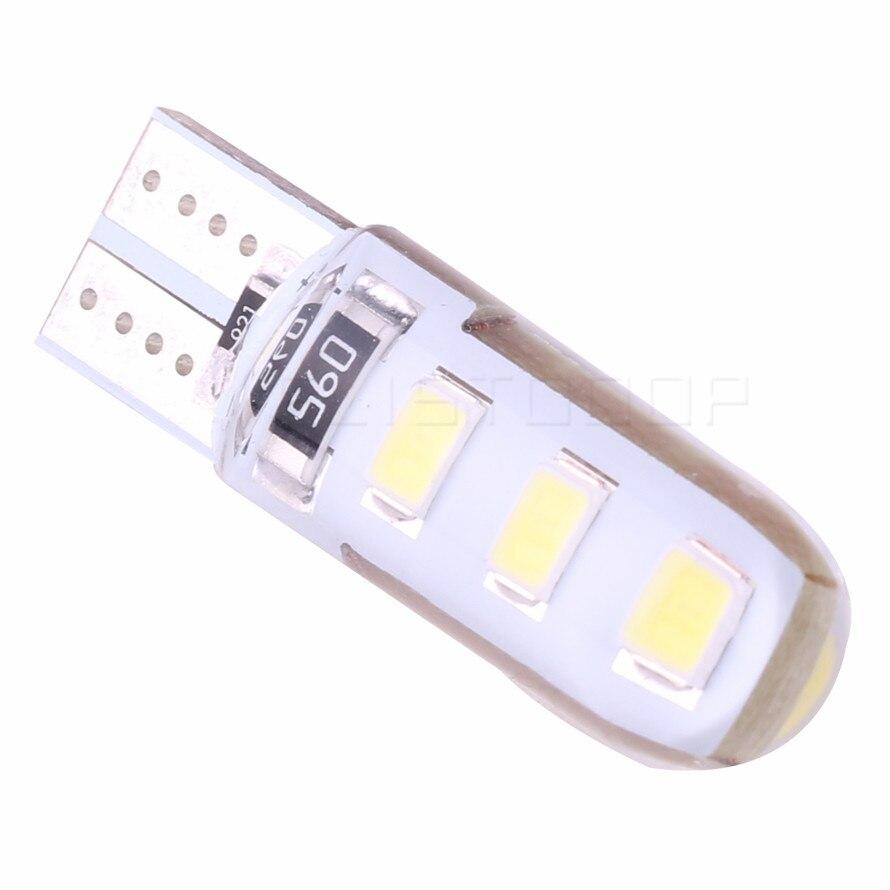 20 pces t10 lâmpada led w5w 5630 5730 6led luz interior do carro canbus 6smd transformar luz erro livre cunha lateral do carro luz