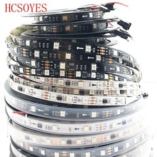 5m WS2811 taśma led 30/48/60 diod led/m,10/16/20 sztuk ws2811 ic/metr, DC12V biała/czarna płytka drukowana, adresowalny cyfrowy 2811 taśmy led