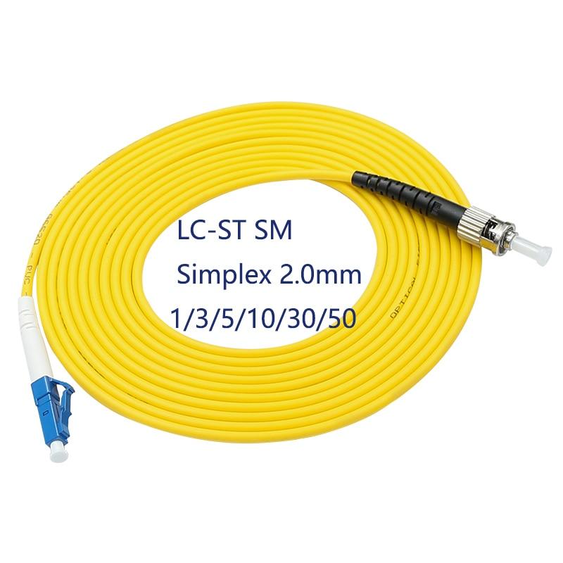 5PCS/bag LC/ UPC-ST/ UPC Simplex mode fiber optic patch cord Cable 2.0mm or 3.0mm FTTH fiber optic jumper cable