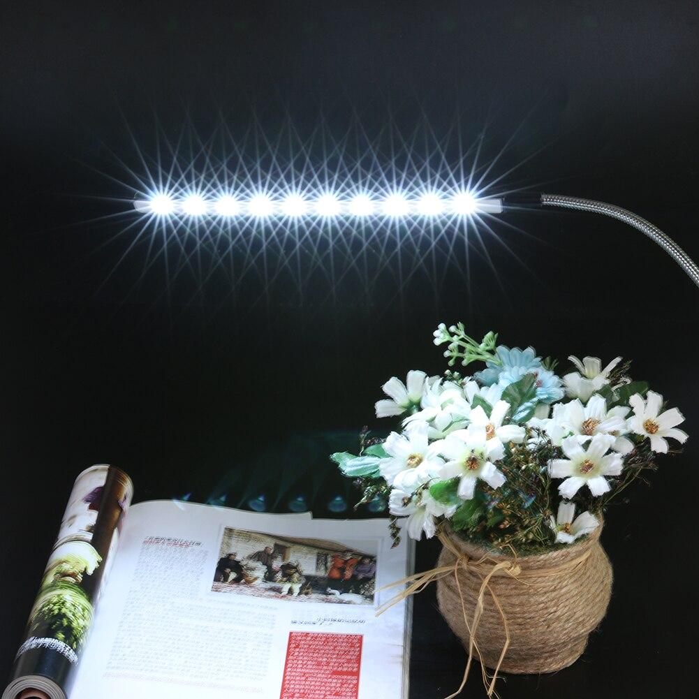 10 LED Flexible Mini Licht Ultra Helle USB Lade Laptop PC Computer Tisch Lampe Alle Winkel Einstellbar Computer Lesen Lampen