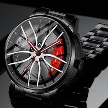 New Men Watches Casual Sports Reloj for Boys Car Watches Waterproof Rim Hub Wheel Wristwatch