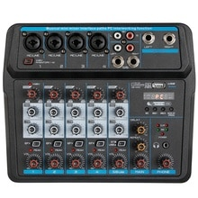 Портативный мини микшер MOOL, звуковая DJ консоль со звуковой картой, USB, фантомное питание 48 В для ПК, записи пения, веб трансляции (США