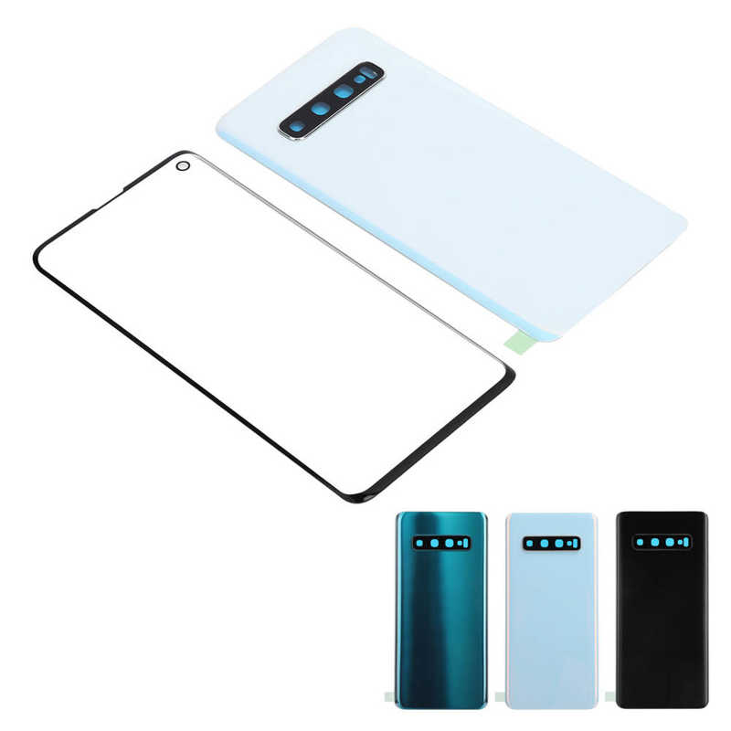 Mobile Phone Back Glass Cover Battery Rear Housing Panel For Samsung S10 G973 enlarge