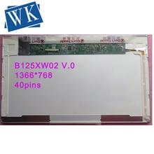 Livraison gratuite B125XW02 V.0 LTN125AT02 LP125WH1 Pour HP 2560p 2570p écran lcd dordinateur portable 1366*768 40pin