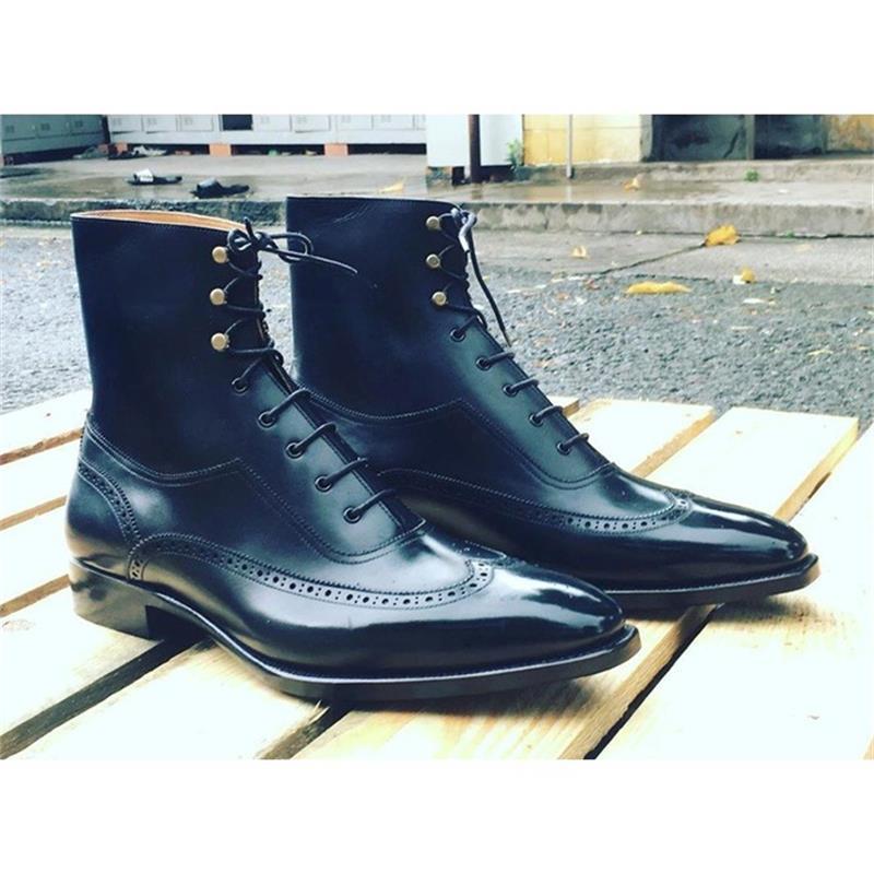 2021 جديد MenFashion أحذية رجال الأعمال كل مباراة فستان اليدوية بو خياطة الكلاسيكية جوفاء الدانتيل متابعة البروغ الأحذية 7KG371