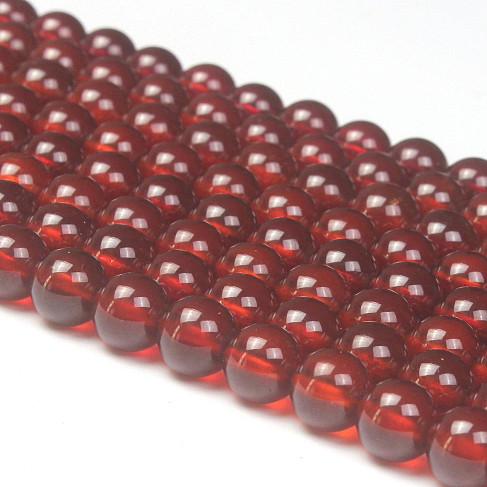 4mm 6mm 8mm 10mm mixed color round crackle glass beads loose spacer beads for jewelry making diy bracelet necklace Natural Round AA Orange Garnet Gemstone Loose Beads 4mm 6mm 8mm For Necklace Bracelet DIY Jewelry Making 15inch Strand