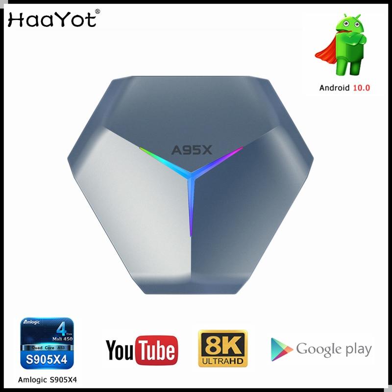 Amlogic S905X4 Smart Android 10 TV Box A95XF4 RGB 8K HD YouTube 4GB Ram 32GB 64GB 128GB Rom 2.4G 5G