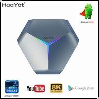 Amlogic S905X4 смарт андроид 10 ТВ коробка A95XF4 RGB 8K HD YouTube 4 Гб оперативной памяти, 32 ГБ оперативной памяти, 64 ГБ 128 ГБ Rom 2,4G 5G Wi-Fi BT Декодер каналов кабел...