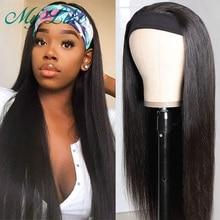 Bone Straight Hair Wig Headband Wig Human Hair Full Machine Wigs for Women Peruvian Human Hair Wigs