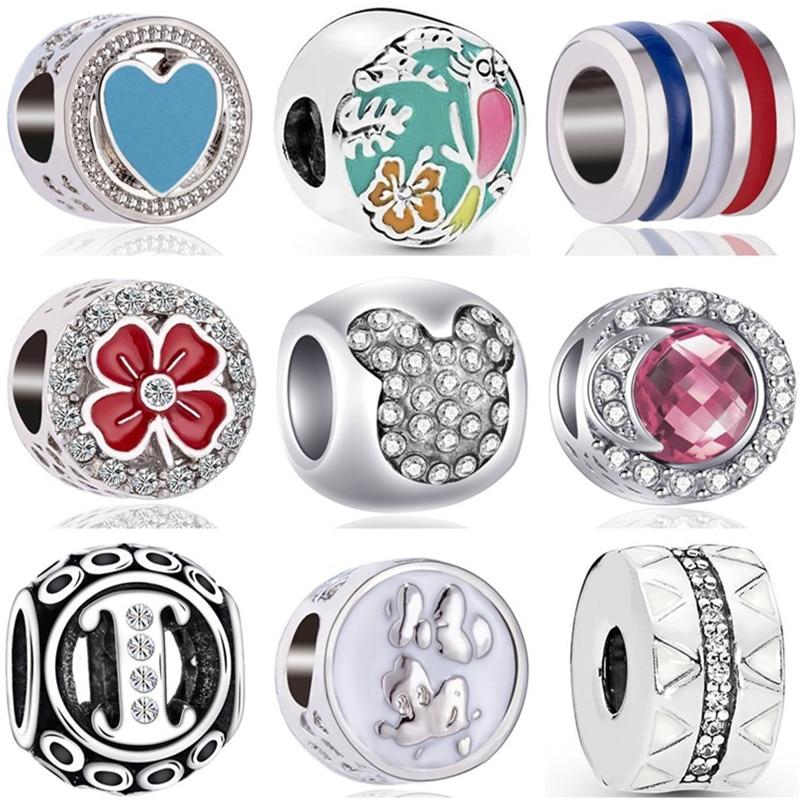 Gorący sprzedawanie kryształ księżyc Dog ważka mała talia królik Mickey koraliki Fit Pandora Charms bransoletki dla kobiet DIY biżuteria