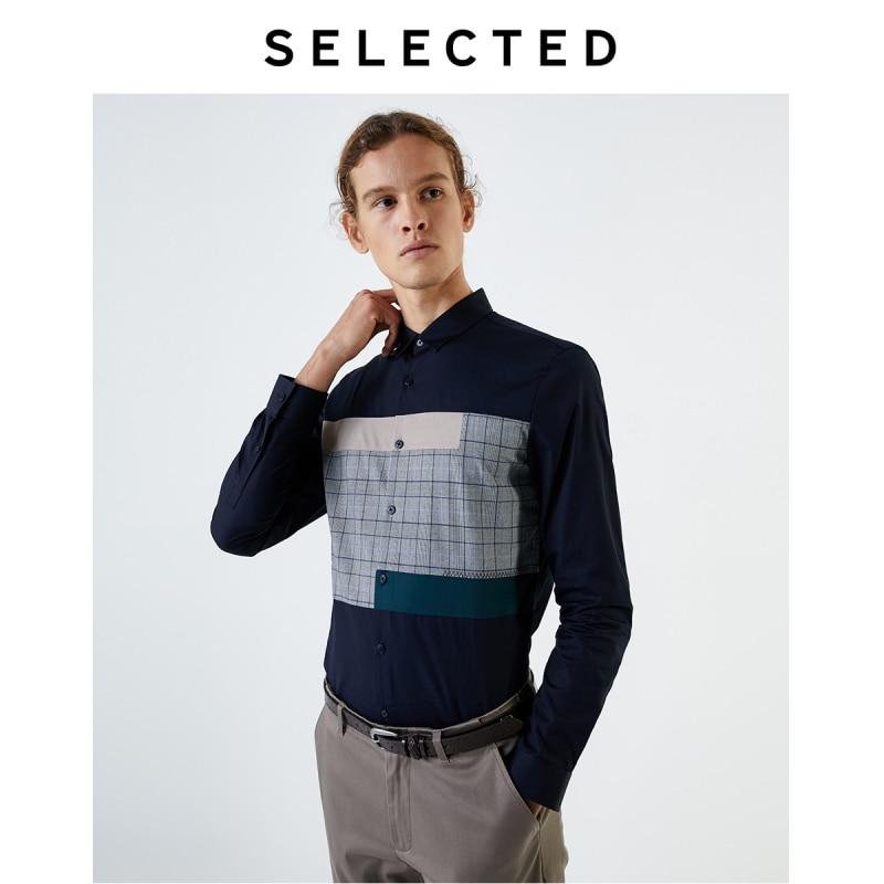 قميص قطني بأكمام طويلة للرجال ، مجموعة مختارة ، 100% ، مقاس نحيف ، تي شيرت رجالي ، 419405513