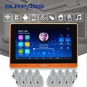 Smart Stereo Wall Amplifier BT WiFi Android Class D Digital Sound Subwoofer Audio PA Ceiling Speaker Home Theater System