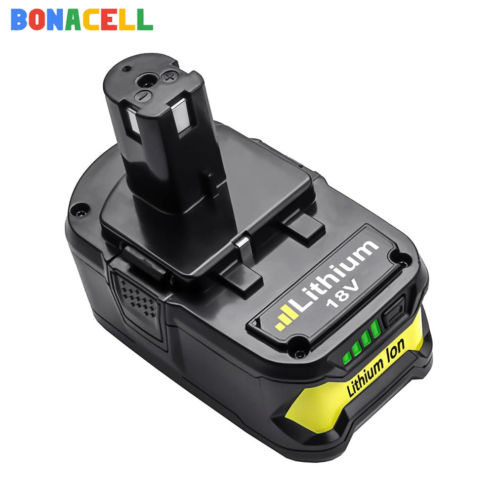 Bonacell 4.0Ah قابلة للشحن بطارية ليثيوم أيون ل RYOBI BPL-1815 BPL-1820G BPL18151 BPL1820 P102 P103 P104 P105 P106 P107 P108