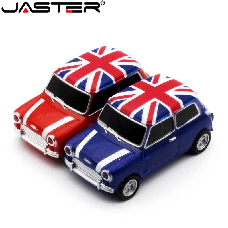 JASTER Mini Car Модель pendrive 4 ГБ 8 ГБ 16 ГБ 32 ГБ 64 ГБ USB 2,0 USB флеш-накопитель карта памяти, Флеш накопитель подарок u-диск Бесплатная доставка
