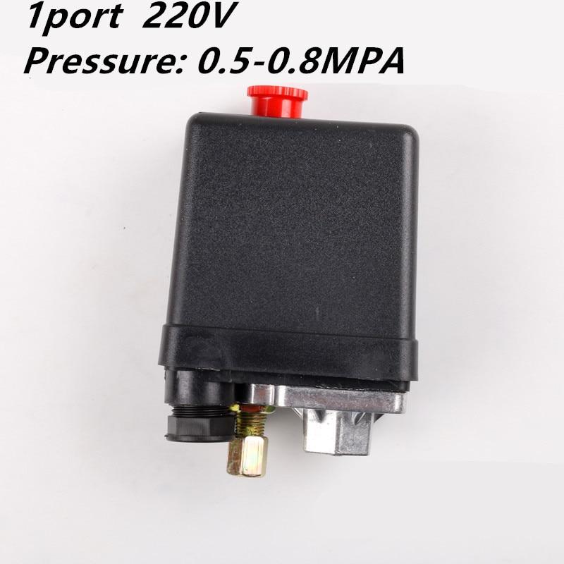 1 fase 220-240V 5-8kgs 15A 175PSI 12Bar Interruptor de Presión Del Compresor de Aire de la válvula de Control de 3 Fase 380V 20A