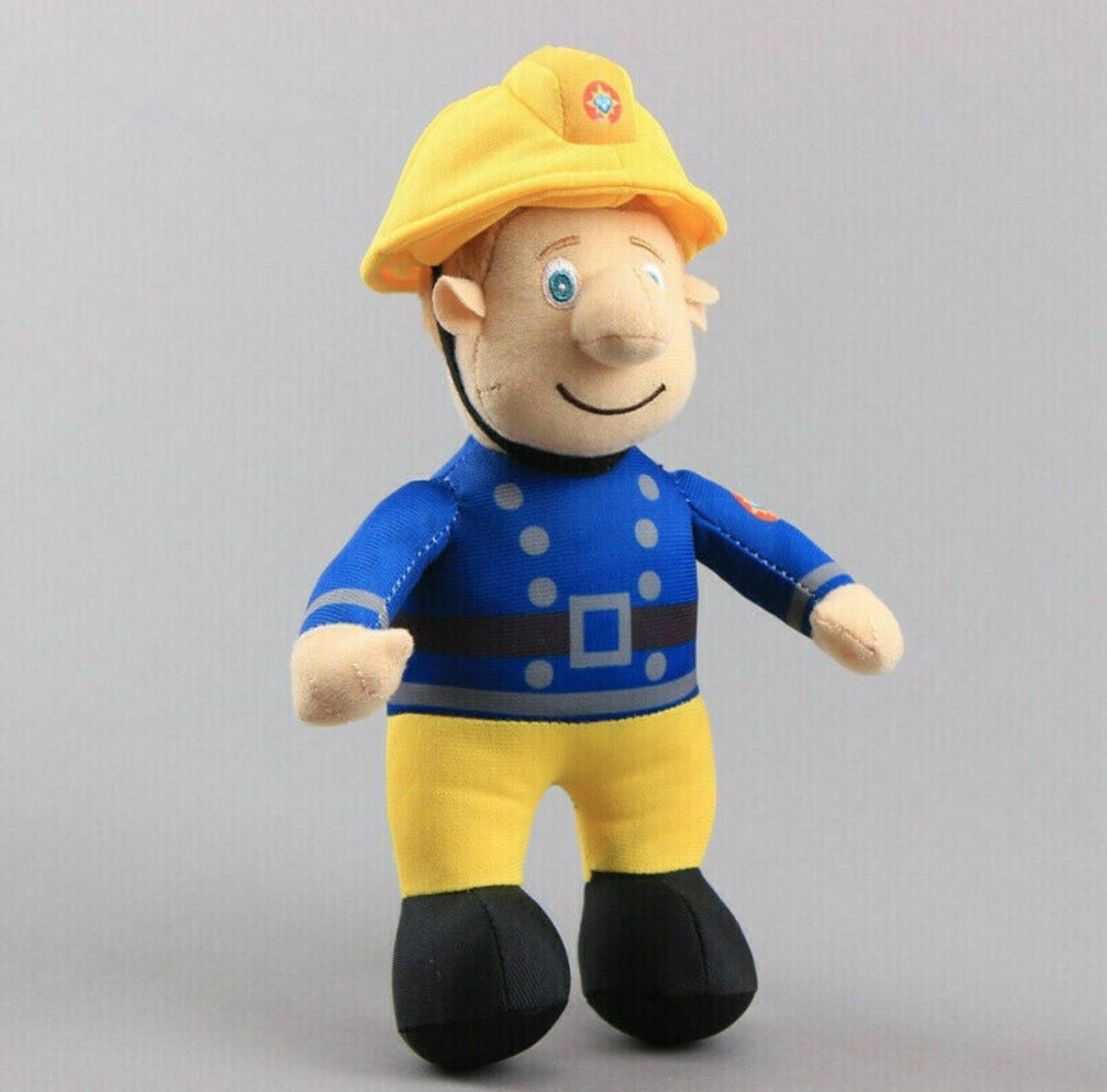 Bombeiro sam brinquedo de pelúcia bombeiro macio recheado boneca 25cm figura crianças presente natal