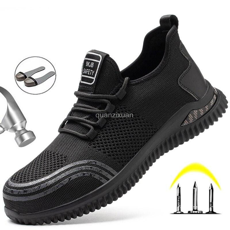 جديد وسادة هوائية أحذية أمان الرجال غير قابل للتدمير أحذية عمل موضة أحذية رياضية الذكور الأمن أحذية واقية الأحذية Safeti