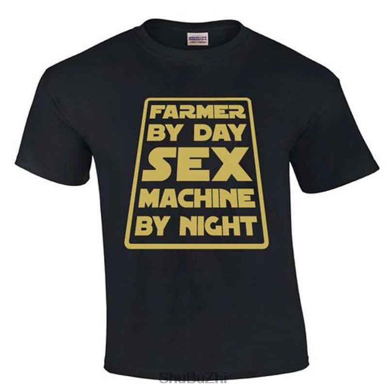 Nova chegada verão hip-hop camisa masculina t agricultor por dia máquina de sexo por noite   agricultor camiseta moda legal dos homens tshirt homme