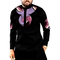 african print long shirts mens fashion patchwork slim fit dashiki clothes custom made africa clothing