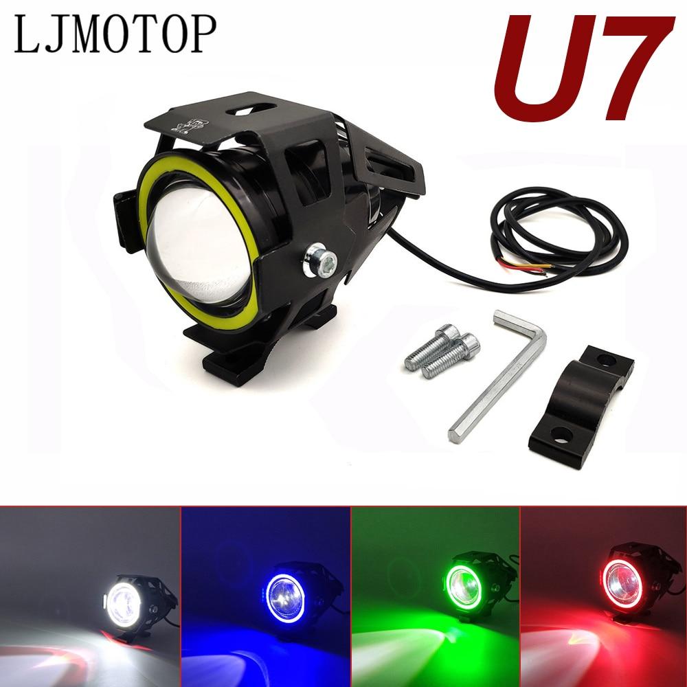 For Yamaha FZ07 09 FZ6 FAZER XSR 700 900 TX125 Adventure 125W Motorcycle Headlight 3000LM Low Beam Flash U7 LED Spotlight