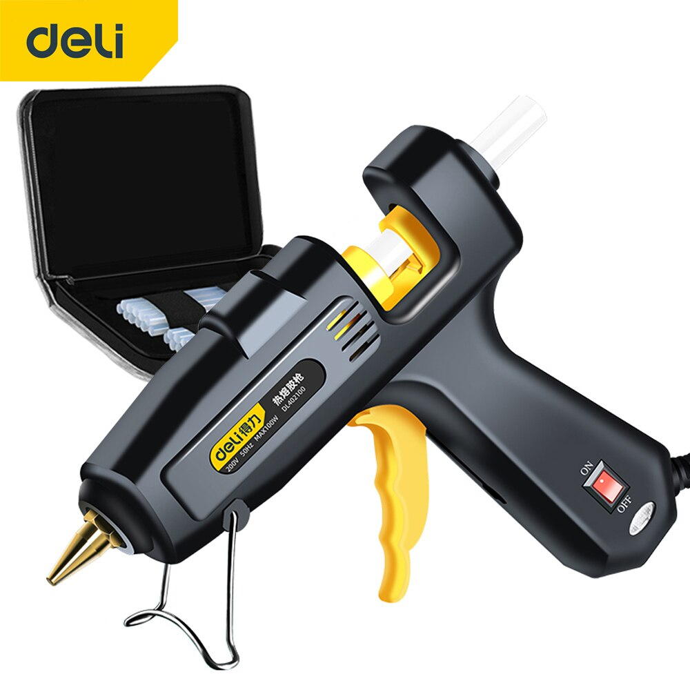 DELI Glue Gun High Temperature Heater Melt Hot Glue Gun DIY Repair Tool Heating Glue Gun 7mm Hot Melt Glue Sticks недорого