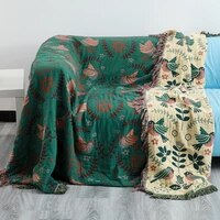 bohemian knitted chair lounge blanket bed plaid tapestry bedspread sofa cover towel home bed comforter blanket hiking hotel