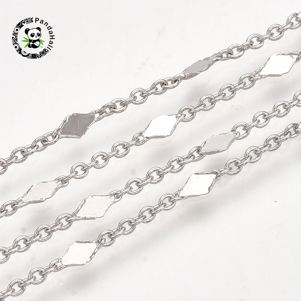 10m/Roll Chain Necklace for Men Women Brass Link Cable Chains Real 18K Gold Plated For Jewelry Making, 1.5x1x0.3mm