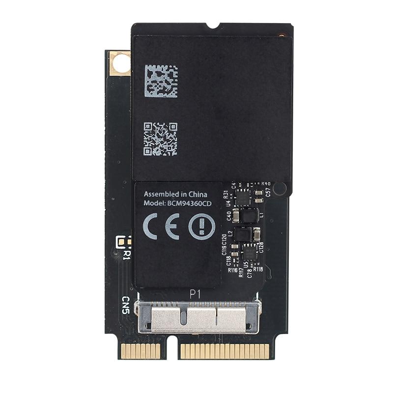 2,4G/5G Wifi TARJETA DE BCM94360CD 1300Mbps inalámbrico adaptador para Mini conversor de PCI-E 802.11ac Bluetooth 4,0 MacOS para iMAC