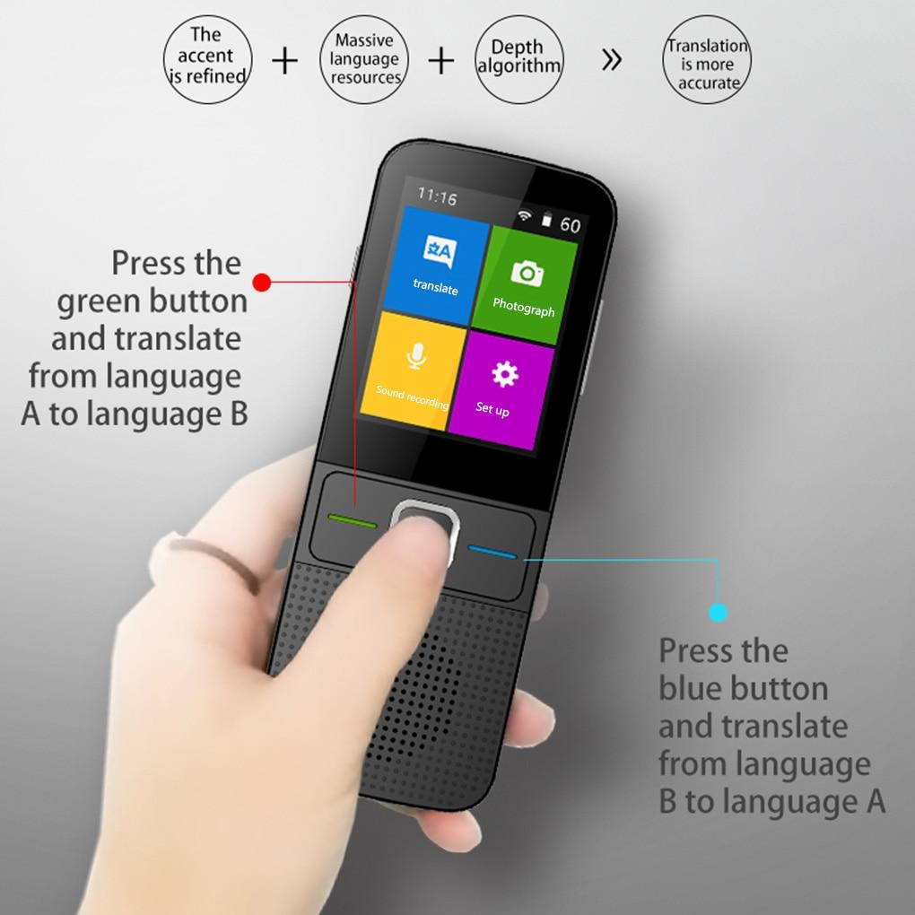 137 Languages Translator Two-Way Real-Time WiFi/Offline Recording/Photo Portable Translator Business Translation Machine enlarge