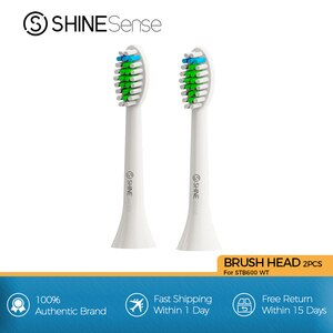 ShineSense Replacement Heads for Sonic Electric Toothbrush STB600