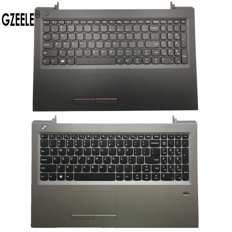 لوحة مفاتيح الولايات المتحدة الجديدة لينوفو V310-15ISK V310-15 Palmrest العلوي لوحة اللمس FPR أسود فضي