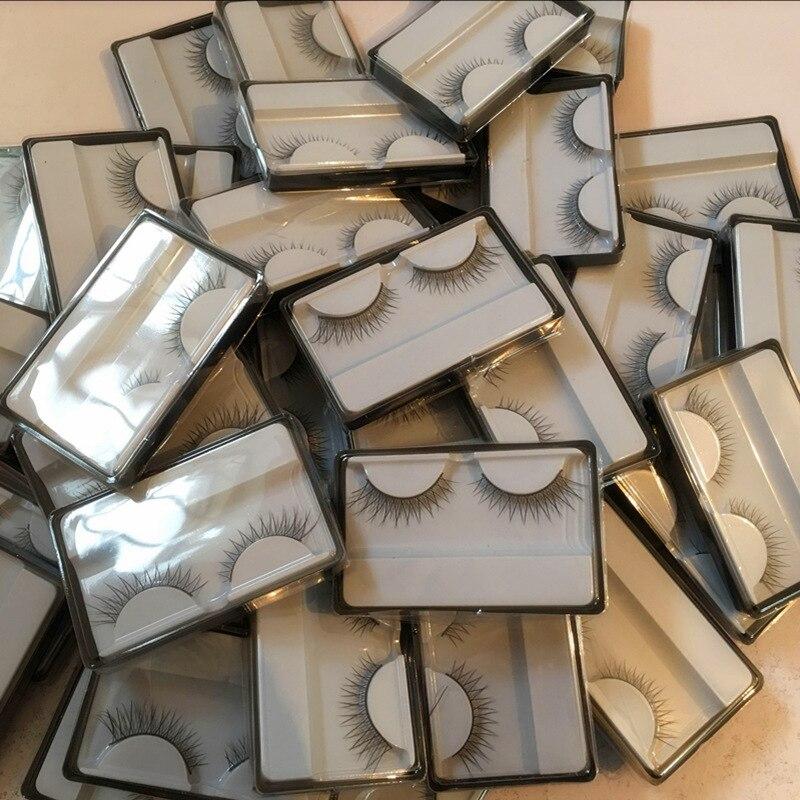 Pestañas postizas naturales gruesas, pestañas postizas cruzadas, 1 par de estilos, pestañas magnéticas 3D, pestañas de visón falsas magnéticas