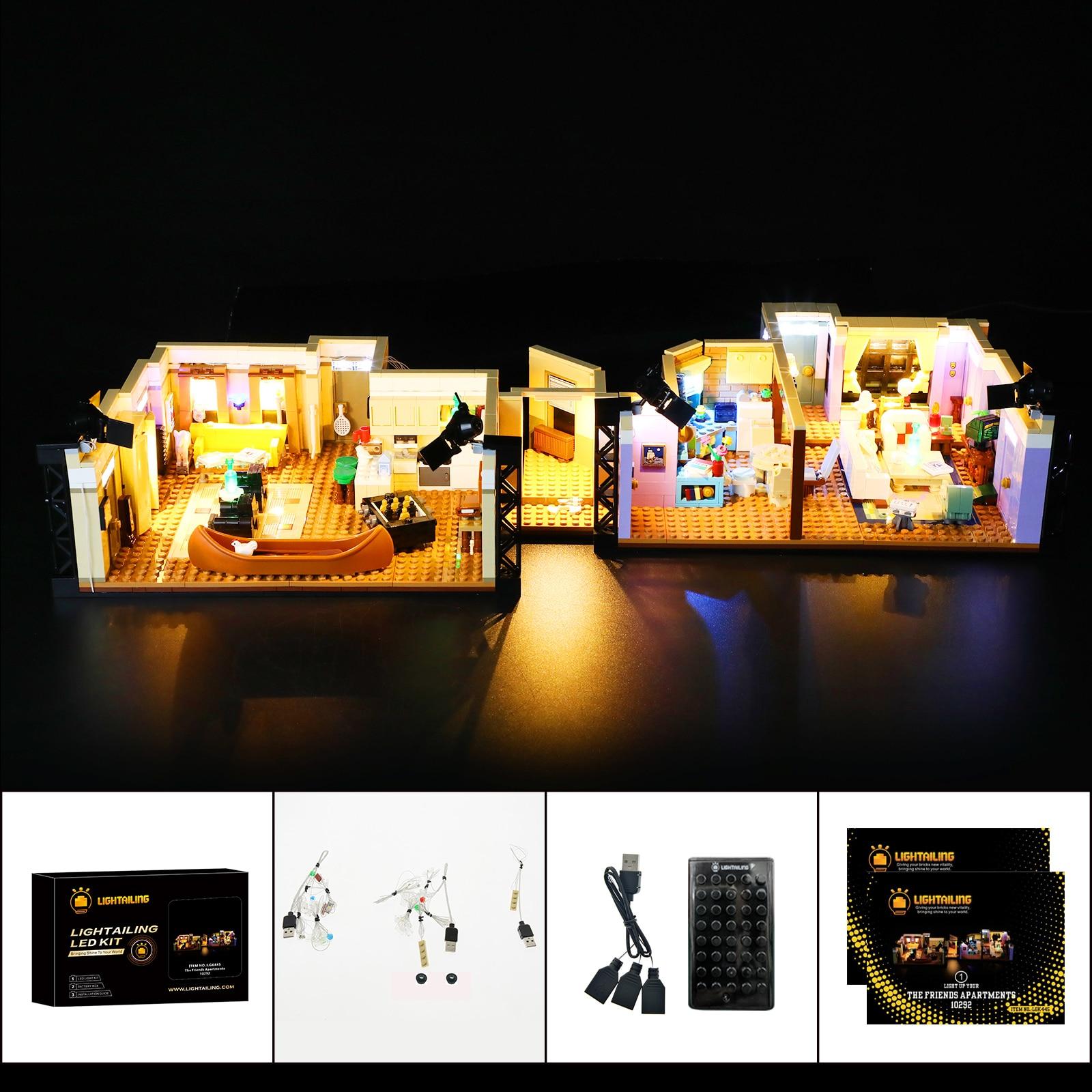 Комплект со светодиодной подсветкой для 10292 друзей и квартир