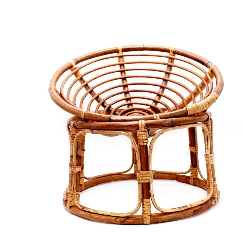 Newborn Photography Props Handmade Bamboo Round Basket Vintage Photoshoot Posing Sofa Baby Fotografia Accessories