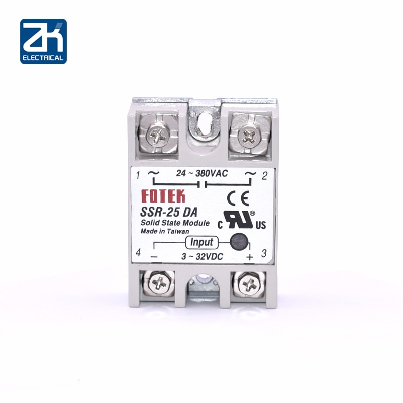 SSR-25DA, SSR-25 DA, 25A 3-32V DC TO 24-380V AC SSR 25DA relay solid state Plastic Cover Case Factory Directly Wholesale Hot