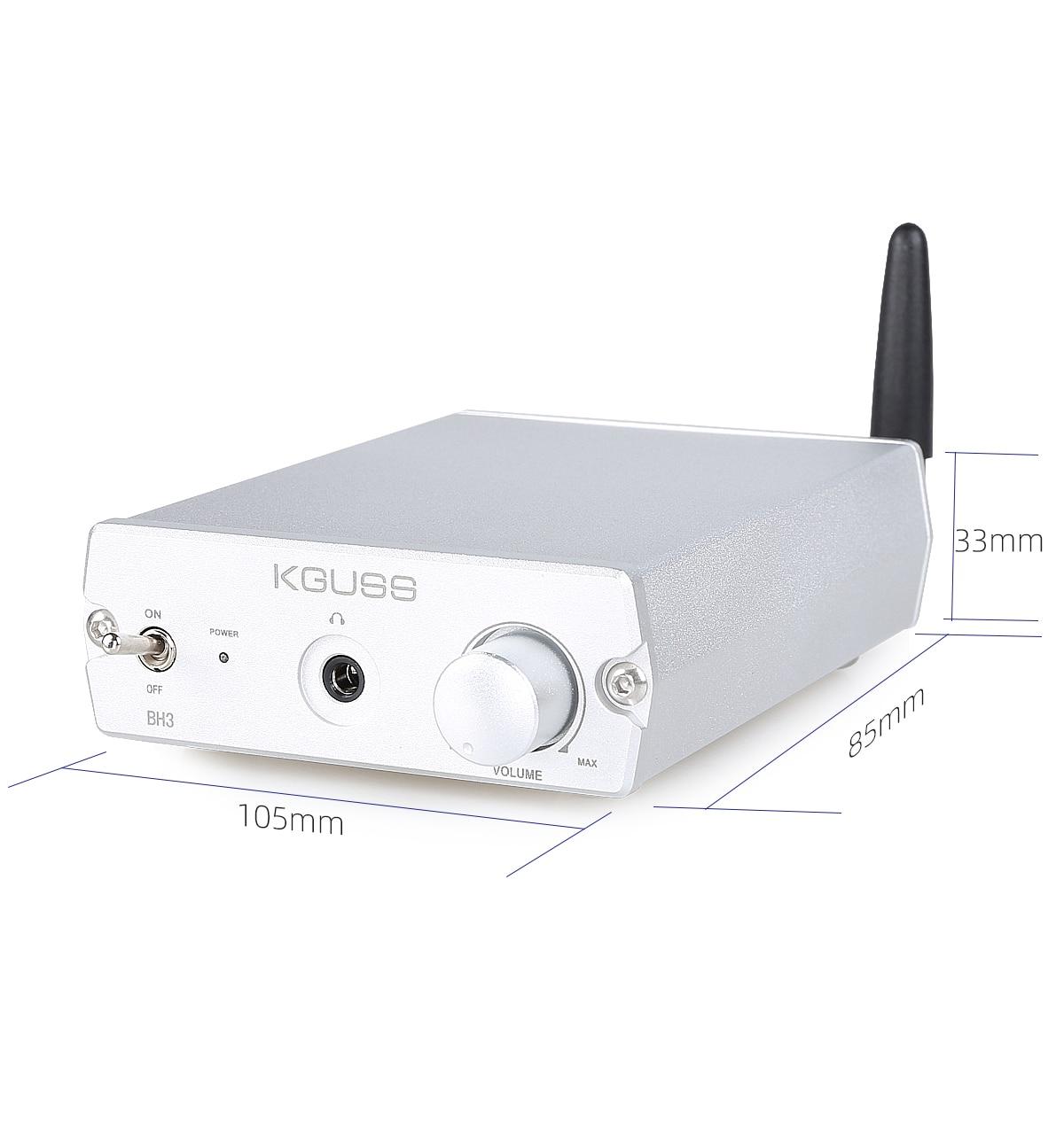 KGUSS BH3 ES9038Q2M Dac Buletooth 5.0 Audio Receiver Converter CSR8675 Support LDAC APTX-HD Bluetooth decoder enlarge