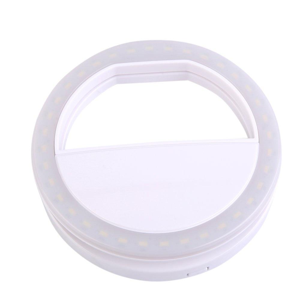 Mobile Phone Clip Selfie LED Auto Flash For Cell Smartphone Round Portable Flashlight Mini Camera