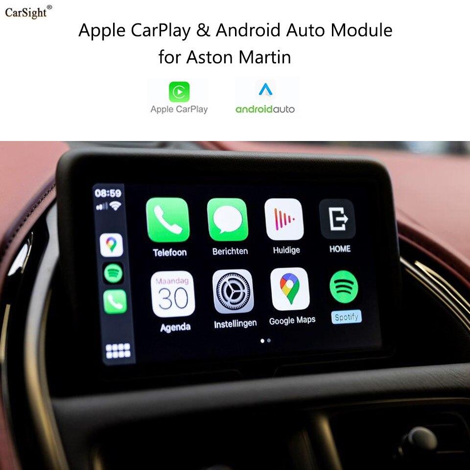 CarSight Wireless Apple CarPlay for Aston Martin Db11 2019 2020 Car Play Phone Mirroring Youtube Netflix Android Auto Google GPS