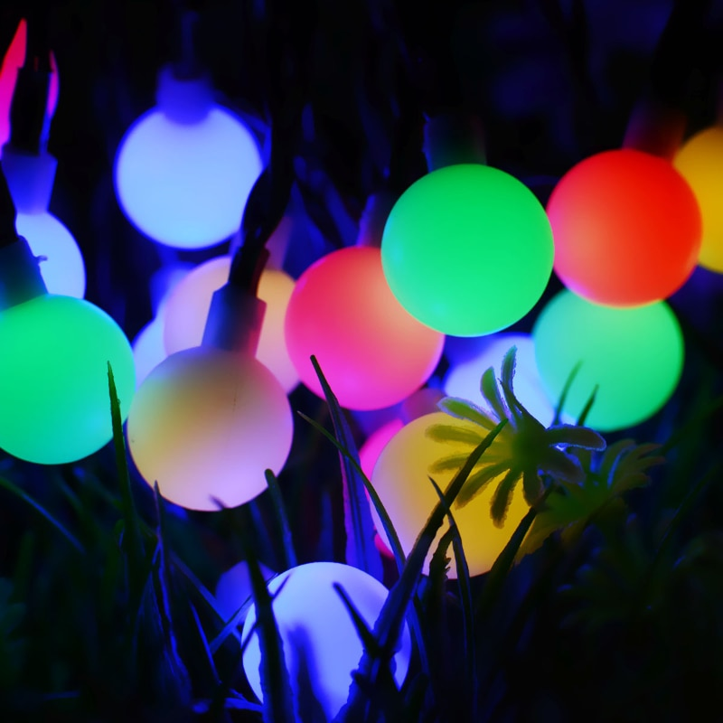 Royalulu Remote Control Outdoor LED Waterproof Garden Ball Night Lights Decoration Lawn Lamp Christmas Wedding Party Holiday