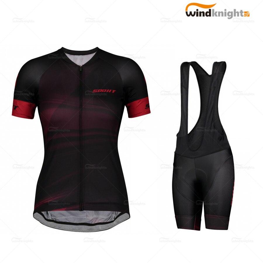 Conjunto de Ropa de Ciclismo profesional para mujer, Maillot de entrenamiento, SCOTT-RC...