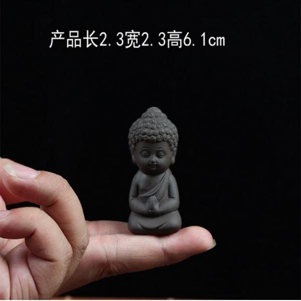 Buddha Statue Monk Tea Pet for Tea Room Exquisite Handmade Ornament  - buy with discount